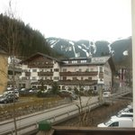View from balcony of the pistes to the right