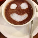 Smiley hot chocolate