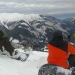 Dan giving instructions on the black slope