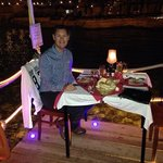 romantic meal on the jetty well worth it!