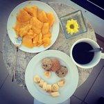 мои завтраки (в номере!)