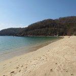 Beach with hotel beach club, only a 5 minute walk