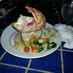 The three seasons (lobster tail, shrimp, and pork)