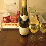 Wine & Snacks in hotel room