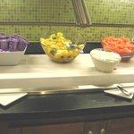 Free breakfast buffet - yogurt, cottage cheese & fruit