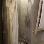 Shower enclosure in senior suite