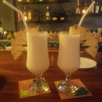 Pina colada made fresh with sweet pineapple!