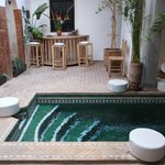 Dipping pool within courtyard of riad.