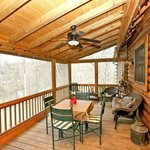 Screened back porch River Landing