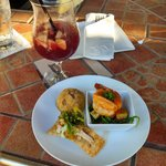 Appetizer and Home made Sangria...Yummy