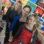 Mom, Me & My Daughter getting ready to paint