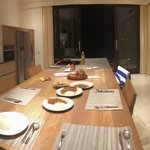Kitchen with room service for dinner