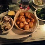 Scallops, Crazy Potatoes, and Squash