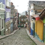 Typical colourful streets of La Candelaria