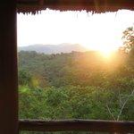 Couché de soleil vu de la chambre : romantisme assuré !