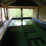 La piscine d'eau de source, un rafraîchissement bienvenu.