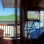 Panoramic shot of the room&balcony!