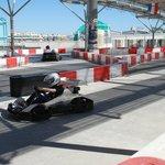 Karting track on roof of Miramar shopping center