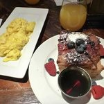 French Toast with a side of eggs (& a mimosa!)