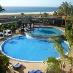 pools in premium area with beach view