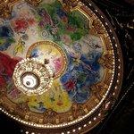 Plafond de l'Opera Garnier peint par Chagal.