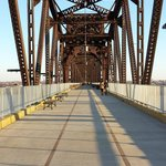 Walking Bridge over the Ohio River, Louisville, KY