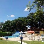 Vista da área das piscinas