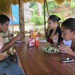 Locals enjoying lunch