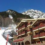 Skien tot bijna aan het hotel