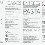 Carini Menu Entrees