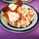Our shrimp/lobster combo at Maro's Shrimp House