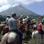 Amazing view of Arenal volcano