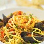 Fresh seafood pasta