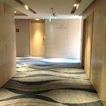 15th floor hallway near elevators.