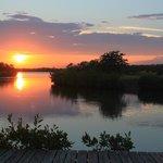 Lagoon sunset Maya Beach