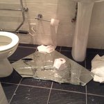 Mess in bathroom