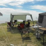 Our Beachfront Site!!  Awesome!!