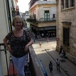 On the porch at Casas Havana