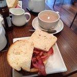 the famous bacon sandwich!