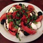 Mozzarella and tomato Caprese Salad.  The roasted red peppers were a great touch as well!!!