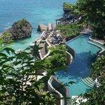 View of ocean beach pool