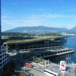 View from our suite.views of the Vancouver harbor, the convention center, mountains and Stanley