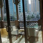 Private balcony looking out onto water