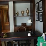 Writing desk in suite