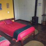 Room at Ngorongoro Rhino Lodge with wood stove