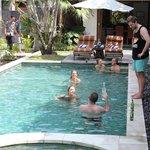 Fun times in the pool