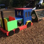 toy train in the childrens playground