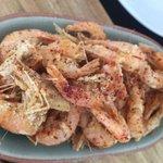 Chilli salt & lemon fried school prawns