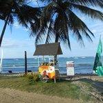 spiaggia davanti a Green Verde