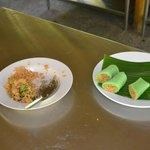 Yummy green coconut pancakes